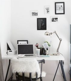 Monochrome | Minimalist | IKEA PS chair | Photographer Madeleine's home in…