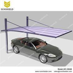 Metal Carport-Aluminium Car port-Single Parking Shed-Sunshield Carport Carport Garage, Pergola Carport, Cantilever Carport, Car Porch Design, Aluminum Carport, Car Shed, Carport Designs, Car Canopy, Building A Porch