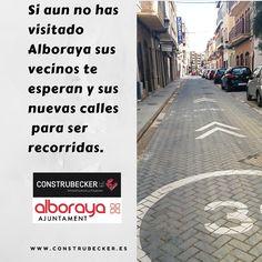 La #obra de la calle San Pancraci en #Alboraya ha sido la primera en ser finalizada y abierta a la circulación del trafico. De esta calle las #mejoras que se aprecian es el pavimento que se ha utilizado incrementando la seguridad y al mismo tiempo disminuido el desgaste de los neumáticos. Valencia, Sidewalk, Chalets, Safety, Walkway, Walkways
