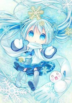 chibi miku hatsune winter - Google Search