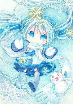 chibi miku hatsune winter - Google Search