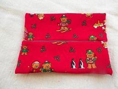 Christmas Teddy Bear Tissue Holder by frugallyfoundforyou, $3.25 USD