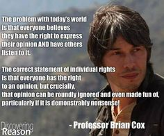 Dr. Brian Cox, opinions