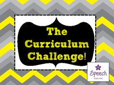 Speech Time Fun: The Curriculum Challenge! How to incorporate the curriculum into speech sessions. Pinned by SOS Inc. Resources. Follow all our boards at pinterest.com/sostherapy/ for therapy resources.