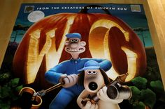 WALLACE & GROMIT CURSE OF THE WERE-RABBIT DS ROLLED ORIG 1SH MOVIE POSTER(2005)