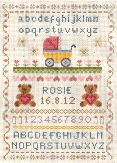 Anchor Classic Birth Sampler Cross Stitch Kit