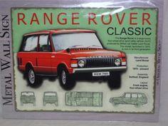 Range Rover classic metal sign