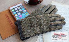 ハリスツイードのスマホ対応レザー手袋、ハミィで販売