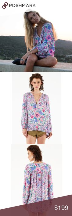 Spell Designs Babushka Blouse Lavender S Worn once, never laundered Spell & The Gypsy Collective Tops Blouses