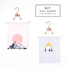 It's half way through the week and time to roll out another DIY idea for you people, along with two free downloadable prints to freshen up or fill any bare space on your walls, yay! We have a lot o...