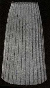 Wide Ribbed Skirt knit pattern from Hand Knit Fashions, originally published by Bernhard Ulmann Co, Volume No. 341, in 1950.