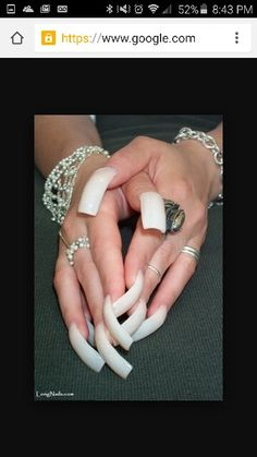 Long curved nails..