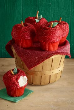 Your eyes aren't fooling you. Inspired byRed Delicious apples, these adorable fall treats are really cupcakes. Get the recipe.