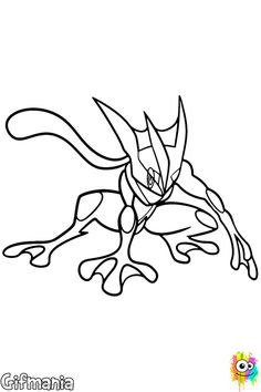 pokemon coloring page see more greninja