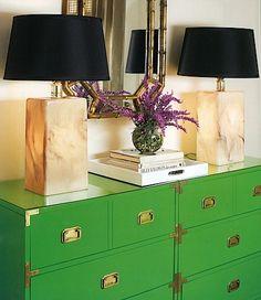 Green campaign dresser