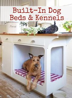 Built-in Dog Beds and Kennels: we have 3 big dogs....not sure this would work, but I still like hidden and out of the way aspect...