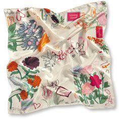 silk scarf pretty flowers
