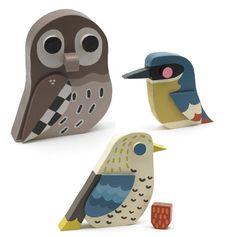 Wooden Owl and birds by Matt Sewell #owl #Matt #Sewell #V #wooden