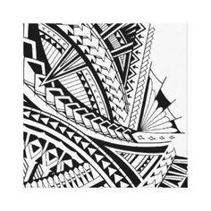 Shop Samoan tribal tattoo art canvas print created by MarkStorm.