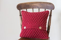 SALE Red Rustic Pillow Cover Shabby Chic Cushion Country