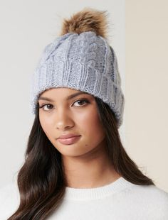 Anita Fur Pom Beanie - Women's Fashion | Forever New Forever Yours, Forever New, Petite Fashion, Women's Fashion, Fashion Forever, Fur Pom Pom, Head Wraps, Perfect Fit, Knitted Hats