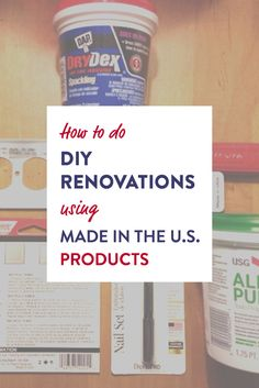 How to do DIY home renovations using Made in the U.S. products - ADFORS® Drywall Joint Tape, USG All Purpose Joint Compound, etc. How I fixed my living room drywall while supporting U.S. manufacturing jobs!