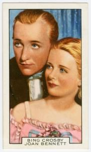 """Bing Crosby and Joan Bennett in """"Mississippi."""""""