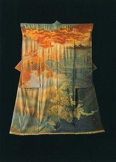 Itchiku Kubota - Landscape Kimono. Modern.