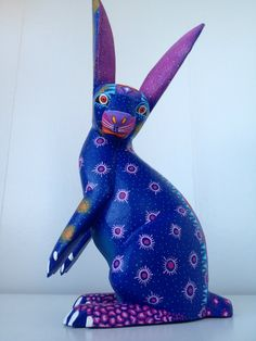 Oaxacan Wood Carved ALEBRIJE Large Rabbit by Zeny Fuentes | eBay