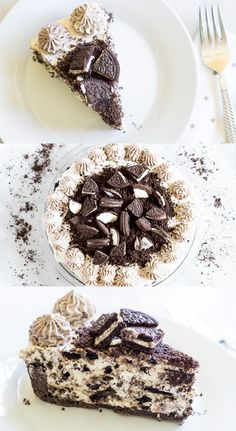 No-Bake Cookies and Cream Cheesecake | @bakeat350 for The Pioneer Woman Food & Friends