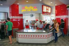 Inside In-N-Out Burger interior