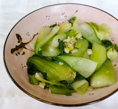 baby bok choy with ginger and scallion