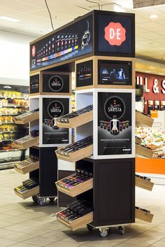 We love designing Kiosks. Contact us about your idea! Douwe Egberts stand by studiomfd, Amsterdam