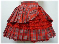 Angelic Pretty Tartan Pleat Skirt (red) Tartan Pleated Skirt, Tartan Dress, Tartan Plaid, Pleated Skirts, Lolita Fashion, Couture Fashion, Girl Fashion, Fashion Outfits, Emo Fashion