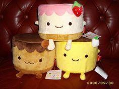 kawaii pudding cake plush by 19Eleonora85, via Flickr