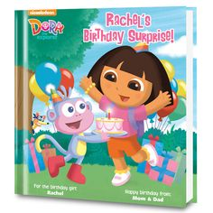 Dora's Birthday Surprise! Personalized Book - Personalized Books - Books | Tv's Toy Box