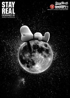 Snoopy on the Moon - T-shirt design via Stayreal, design by Ashin X No2Good