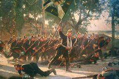 Advancing German Guards, Franco-Prussian War