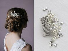 Wedding Hair Comb Bridal Hair Comb Decorative Comb by Enzebridal