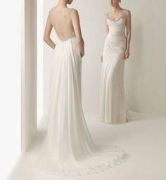 2013 Mariée romantique pur blanc mousseline par Perfectdresses, $119.00