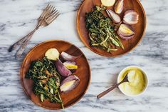 Roasted Broccoli and Red Onions with Caramelized Shallots and Aioli | food52