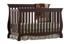 Stork Craft Carrara 4-in-1 Fixed Side Convertible Crib, Espresso:Amazon:Baby