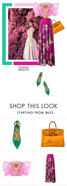 """""""Love the way you look at me...."""" by theitalianglam ❤ liked on Polyvore featuring Salvatore Ferragamo, Hermès, Manish Arora, Etro, Ferragamo, hermes, manisharora and summerbrights"""