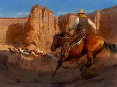 Image detail for -ANDY THOMAS The Mustanger western art prints