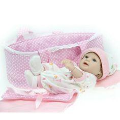 Dolls & Stuffed Toys New 46cm Simulation Bowknot Newborn Infant Baby Reborn Doll Sleeping Accompany Toy By Scientific Process