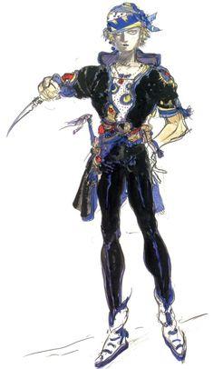 Yoshitaka Amano - Locke Cole - Final Fantasy VI