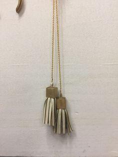 Deux leather tassel necklace