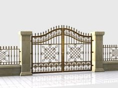 Modern wrought iron gate - www.