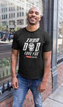 Dad I Love You 3000 Times Mens T-Shirt Movies Inspired Fathers Day Gift Unisex