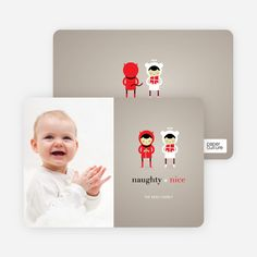 Devil and the Angel Holiday Photo Cards